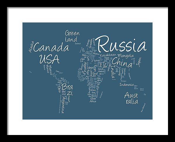 written world map